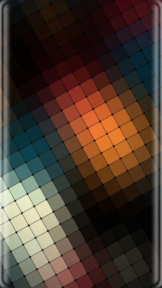 Обои на телефон шаблон, свет, оранжевые, красочные, грани, абстрактные, s7 edge, s7