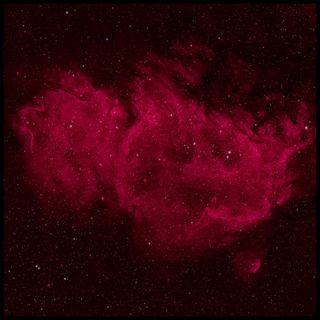 Обои на телефон душа, туманность, космос, звезды, астрономия, soul nebula, ic 1848