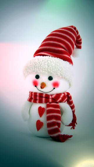 Обои на телефон шляпа, каникулы, снеговик, снег, смайлики, рождество, милые, зима