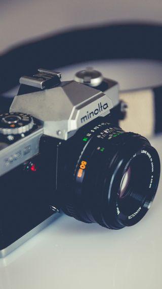 Обои на телефон электроника, объектив, камера, фото, technic, minolta, media