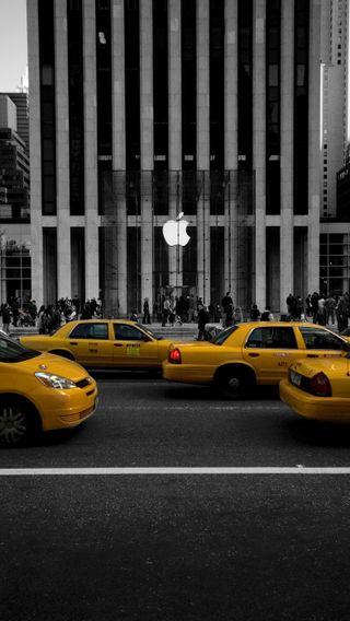 Обои на телефон айфон 5, эпл, нью йорк, айфон, store, mac, iphone, ios7, apple, 5c