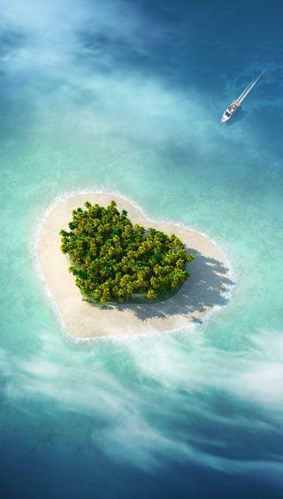 Обои на телефон приятные, природа, пляж, пейзаж, остров, любовь, лодки, perfect, love
