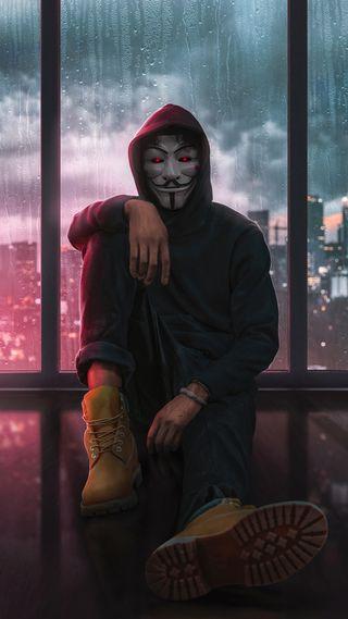 Обои на телефон хакер, анонимус, hd