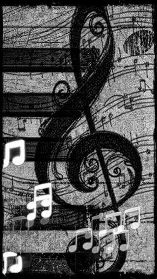 Обои на телефон классика, черные, ноты, музыка, белые, classic music