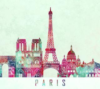 Обои на телефон франция, розовые, париж, белые, башня