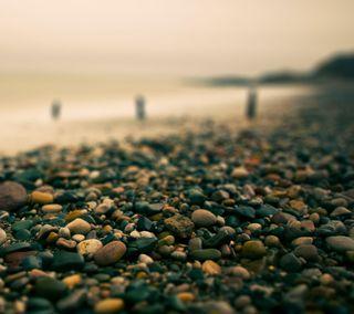 Обои на телефон камни, пляж