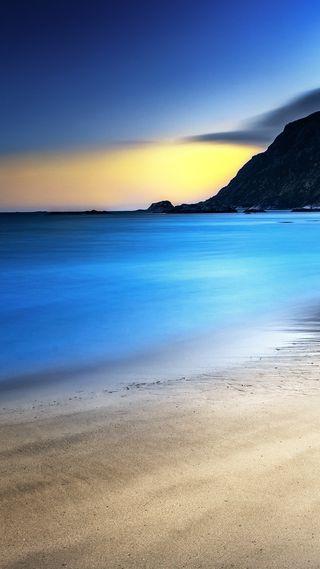 Обои на телефон песок, синие, рок, рай, пляж, облака, небо, море, красота, камни, горы