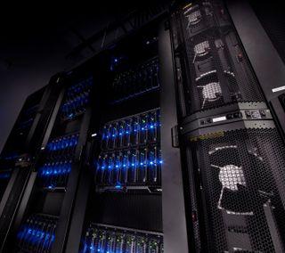 Обои на телефон компьютер, черные, супер, синие, свет, supercomputer, super computer, pc