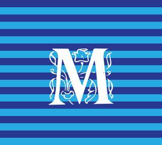 Обои на телефон полосы, дизайн, буквы, nautical m, initials