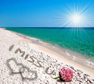 Обои на телефон солнечный свет, ты, сердце, романтика, пляж, песок, море, любовь, love