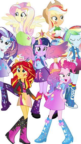 Обои на телефон пони, мой, маленький, девушки, mlp, equestria girls, eg mane 7 rp
