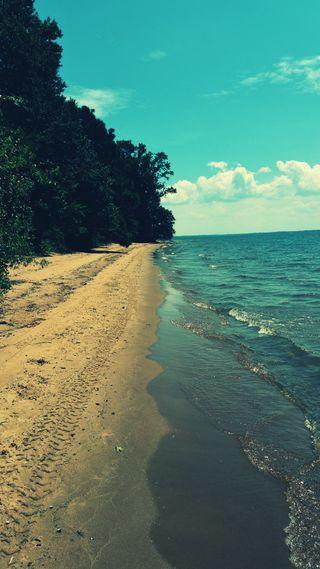 Обои на телефон озеро, пляж, lakeshore