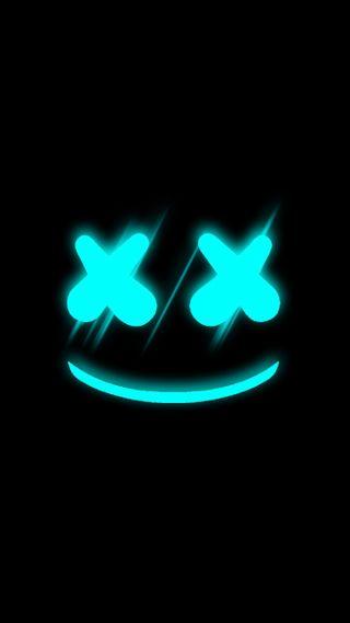 Обои на телефон маршмеллоу, черные, синие, светящиеся, неоновые, музыка