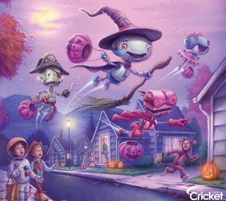 Обои на телефон дети, хэллоуин, робот, крикет, дизайн, ведьма, арт, zedgehallow, robot witch, art