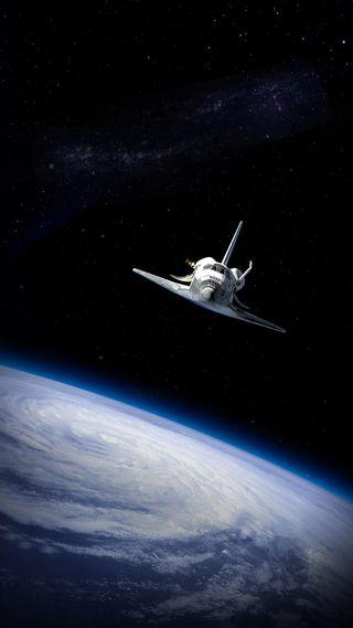 Обои на телефон самолет, космос, звезда, вселенная