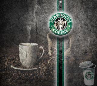 Обои на телефон черные, чашка, старбакс, кофе, зеленые, java, cup, bean