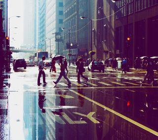 Обои на телефон фотография, улица, люди, город, hd, chciago