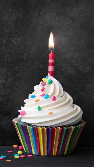 Обои на телефон торт, счастливые, свеча, день рождения, happy