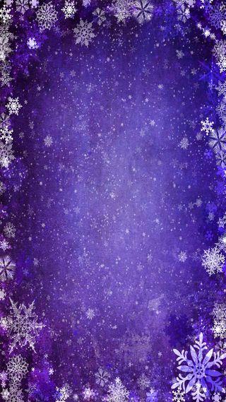 Обои на телефон снежинки, снег, синие, мороз, зима
