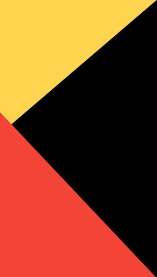 Обои на телефон плоские, яркие, черные, темные, минимализм, материал, красые, желтые, material twelve