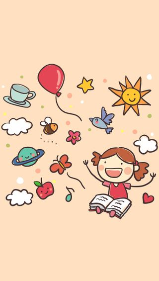 Обои на телефон книга, рисунки, девушки, imagination