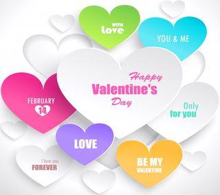 Обои на телефон день, фон, сердце, любовь, векторные, валентинка, абстрактные, vector background, love