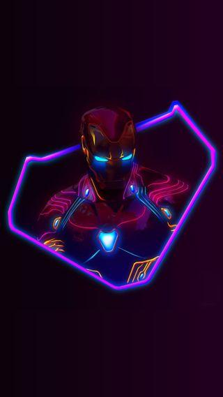 Обои на телефон слон, огни, неоновые, золотые, железный человек, железный, водка, бриллианты, neonwallpaper, neon ironman, man, avengerinfinitywar