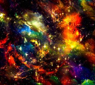 Обои на телефон фантастические, красочные, космос, галактика, вселенная, galaxy