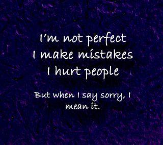 Обои на телефон ошибки, sorry, perfect, im not perfect