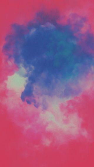 Обои на телефон картина, синие, розовые, облака, дым, абстрактные, abstract painting
