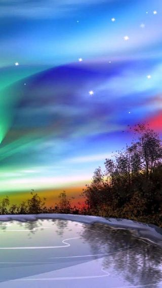 Обои на телефон северный, аврора, приятные, природа, огни, небо, крутые, звезды, northern lights