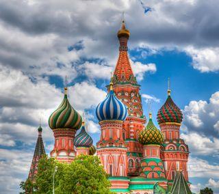 Обои на телефон церковь, россия, здания, moscow, dome, basilica