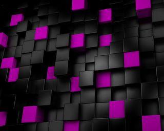 Обои на телефон кубы, фиолетовые, 3д, 3d