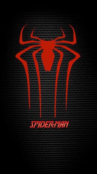 Обои на телефон человек паук, логотипы