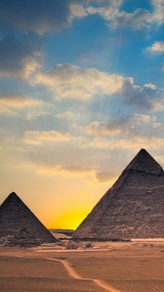Обои на телефон egypt pyramids, природа, египет, пирамиды