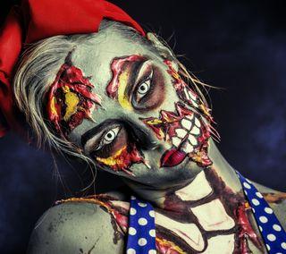 Обои на телефон зомби, делать, девушки, make up