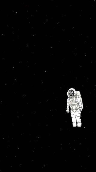 Обои на телефон космонавт, темные, одинокий, космос, lone astronaut
