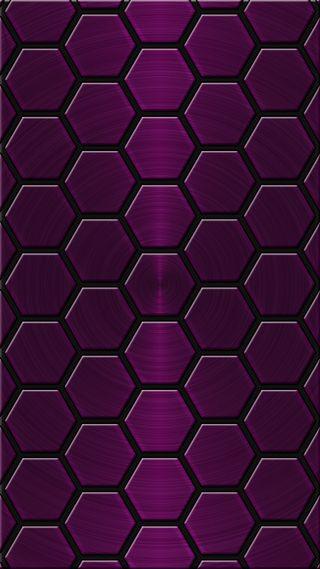 Обои на телефон многоугольник, фиолетовые, x3mcx