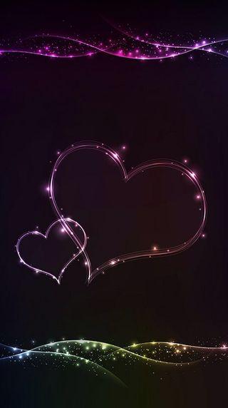 Обои на телефон сердце, свет