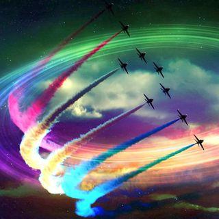 Обои на телефон фотошоп, самолет, реактивный, радуга, squadron, acrobatic squadron