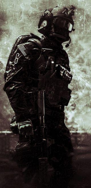 Обои на телефон солдат, война, военные, армия, warped soldier, battlefield