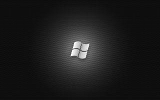Обои на телефон черные, серые, металлические, логотипы, windows, vista