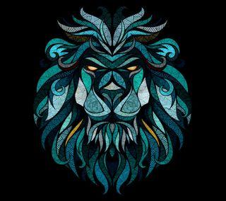 Обои на телефон graphic design, lion b, черные, дизайн, лев, цветные, картина, иллюстрации, графические