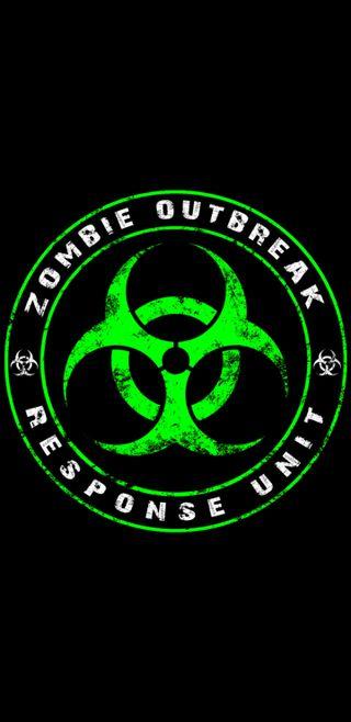 Обои на телефон зомби, черные, логотипы, зеленые, outbreak