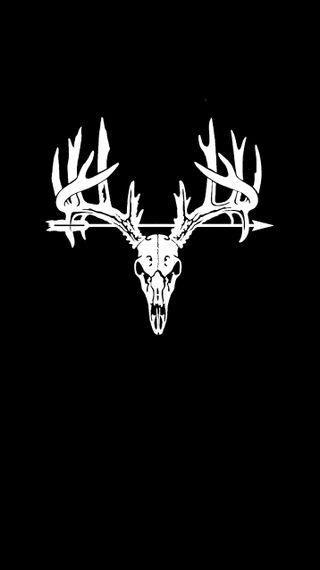 Обои на телефон олень, череп, охота, металл, крест, дерево