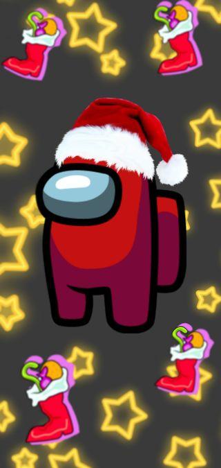 Обои на телефон рождество, игра, зима, арт, амонг, art, among us christmas