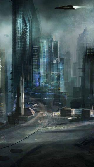 Обои на телефон будущее, город