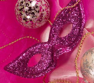 Обои на телефон цепь, вечеринка, счастливые, розовые, новый, маска, год, happy, bauble