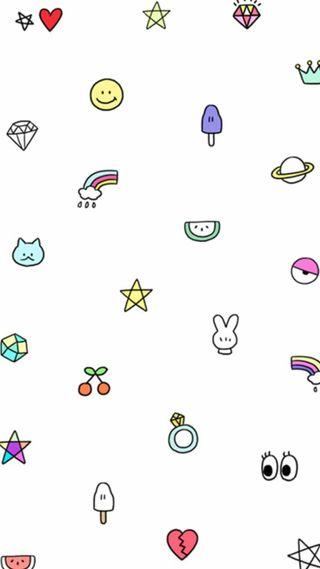 Обои на телефон домашний экран, эмоджи, экран блокировки, милые, корейские, каваи, cute kawaii emoji