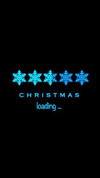 Обои на телефон снежинки, каникулы, рождество, загрузка